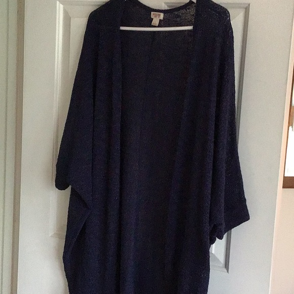 Mossimo Supply Co. Sweaters - Cocoon open front cardigan, 3/4 sleeve
